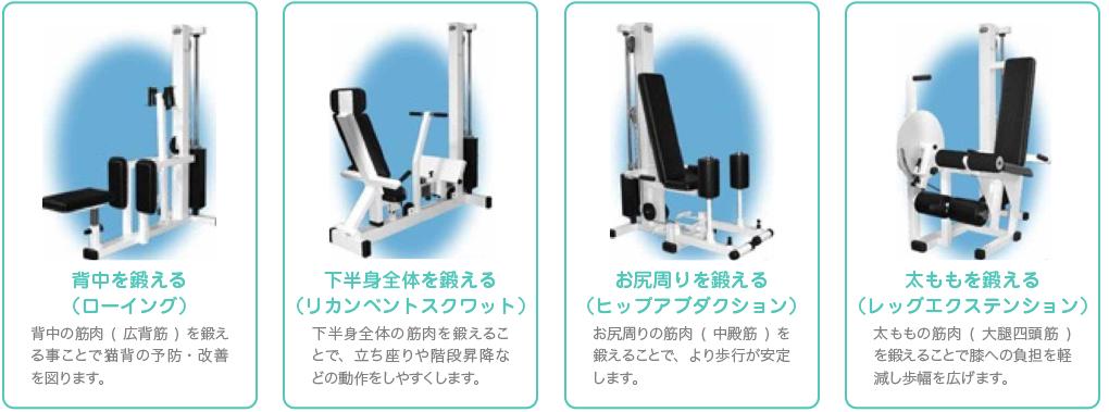 運動機器を使用した筋力増強運動