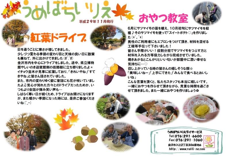 うめばち新聞2017年11